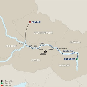 CLICK HERE for Avalon CAPITALS OF CENTRAL EUROPE River Cruise MAP!!