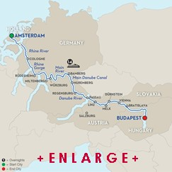 CLICK HERE for Avalon EUROPEAN SPLENDOR River Cruise MAP!!