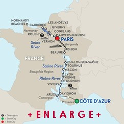 CLICK HERE for Avalon GRAND FRANCE River Cruise MAP!!