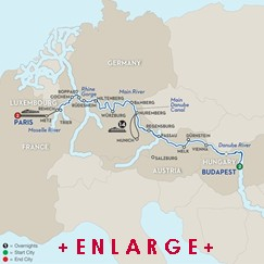 CLICK HERE for Avalon JEWELS OF CENTRAL EUROPE River Cruise MAP!!