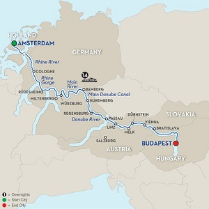 CLICK HERE for Avalon MAGNIFICENT EUROPE River Cruise MAP!!
