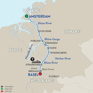 CLICK HERE for Avalon ROMANTIC RHINE River Cruise MAP!!