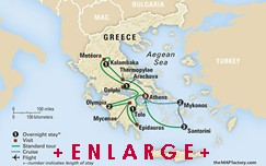 CLICK HERE for Collette EXPLORING GREECE and Its Islands MAP!!