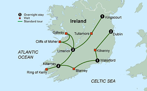 CLICK HERE for Collette Vacations Shades of Ireland