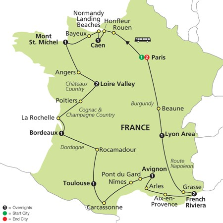 Grand Tour of France by Cosmos Tours