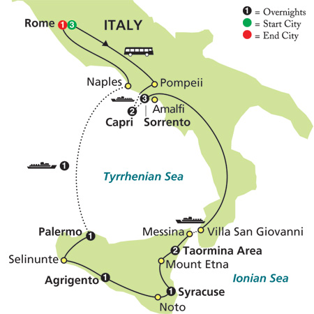 Southern Italy and Sicily by Cosmos Tours