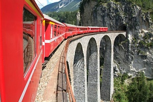 Touring Bernina Express Train