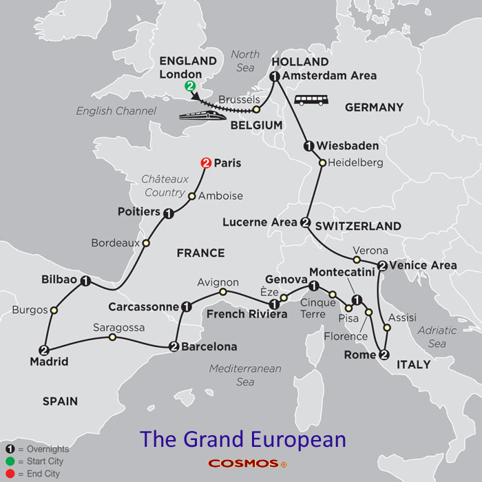 Map Of France Germany Switzerland.Tours Of France And Germany Europe Tours