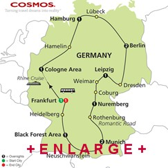 CLICK HERE for Cosmos Highlights of Germany MAP!