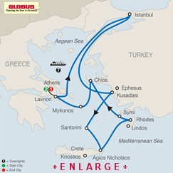 CLICK HERE for Globus Iconic Aegean MAP!