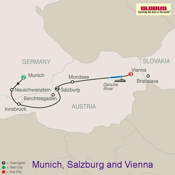 Tours Of Austria And Switzerland Europe Tours - Germany map salzburg