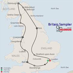 CLICK HERE for GLOBUS Britain Sampler MAP!