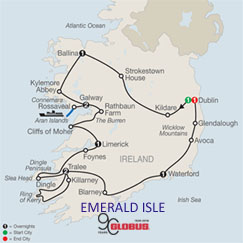 CLICK HERE for GLOBUS Emerald Isle MAP!
