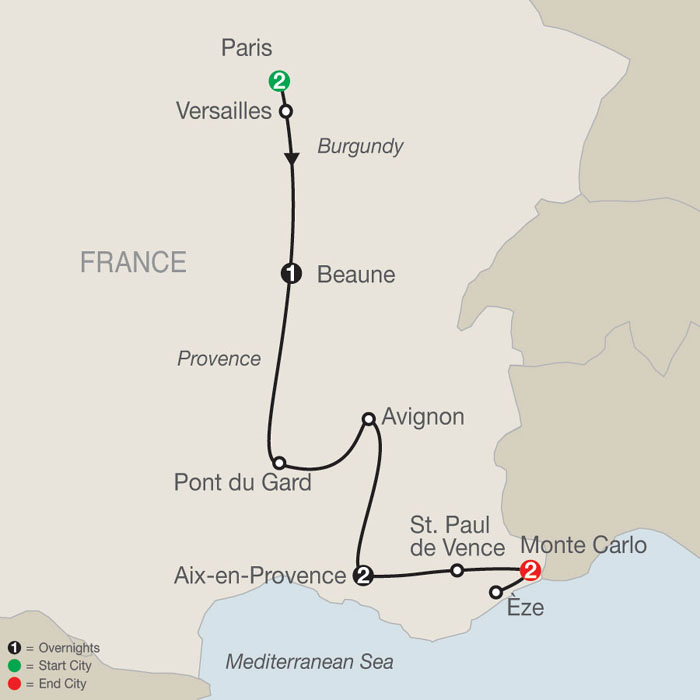City Map Of France.Tours Of France And Germany Europe Tours