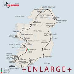 CLICK HERE for GLOBUS Scenic Ireland MAP!