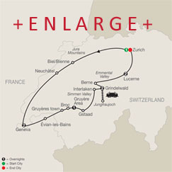 CLICK HERE for Globus Spectacular Switzerland MAP!!