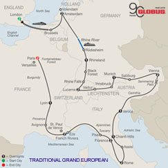 CLICK HERE for GLOBUS Traditional Grand European MAP!