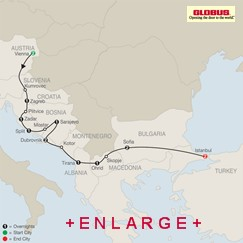 CLICK HERE for Globus From Vienna to Istanbul MAP!!