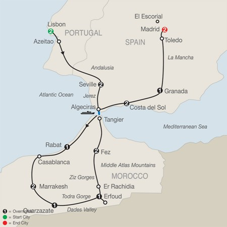 Globus Tours Of Spain Portugal And Morocco