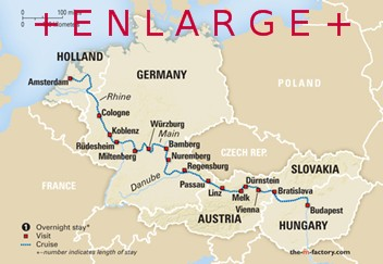 Map Of France Holland And Germany.Tours Of Europe 2015 2016 Multi Country Tours And River Cruising