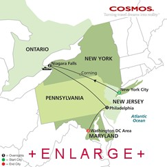 CLICK HERE for Cosmos New York, Niagara Falls and Washington, D.C. MAP!!