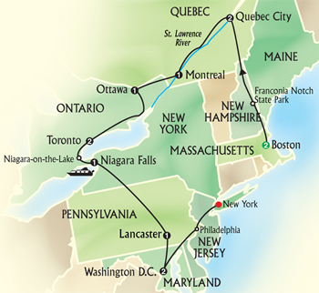 Click here for Globus Tours Eastern US and Canada Discovery!