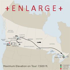 CLICK HERE for Globus Great Canadian Rail Journey MAP!!
