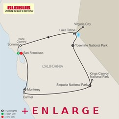 CLICK HERE for Globus Northern California's Finest MAP!!