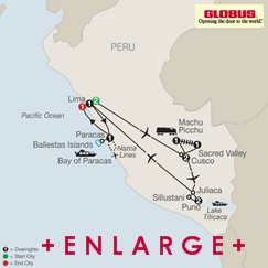 CLICK HERE for GLOBUS LEGACY OF THE INCAS MAP!