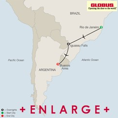 CLICK HERE for GLOBUS South American Escape MAP!