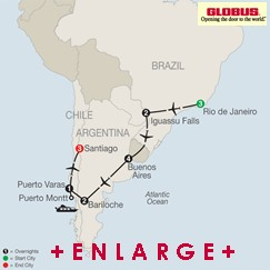 CLICK HERE for GLOBUS SOUTH AMERICAN ODYSSEY MAP!